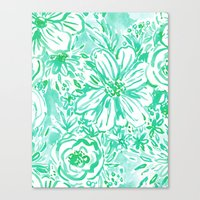 AQUA BIG SUNSHINE Canvas Print