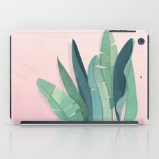 Tropical plants on pink background iPad Case