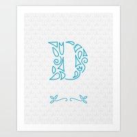 D Scallop: Blue Art Print
