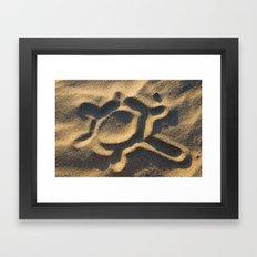 Think of the sun... Framed Art Print