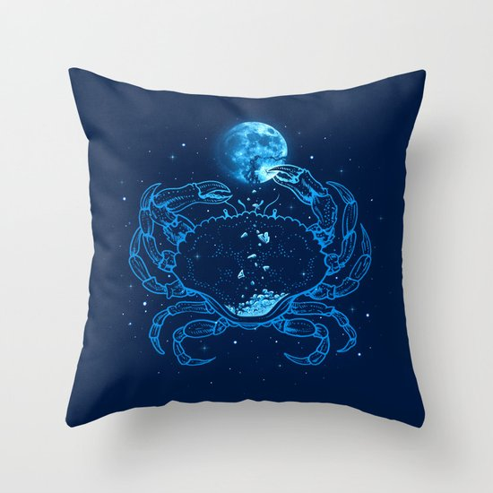 Me Gusta La Luna Llena Throw Pillow