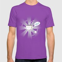 Good Morning Mens Fitted Tee Ultraviolet SMALL