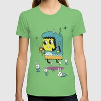 The Birds and the Bunnies  Womens Fitted Tee Grass SMALL