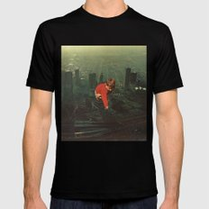 houston SMALL Black Mens Fitted Tee