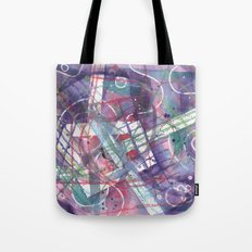 purple geo abstract Tote Bag