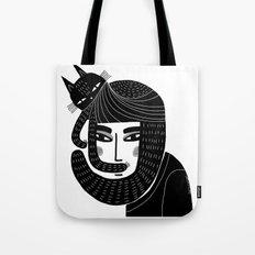 CAT BEARD Tote Bag