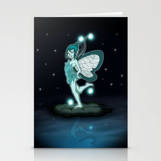 Little Night Fairy   Stationery Card