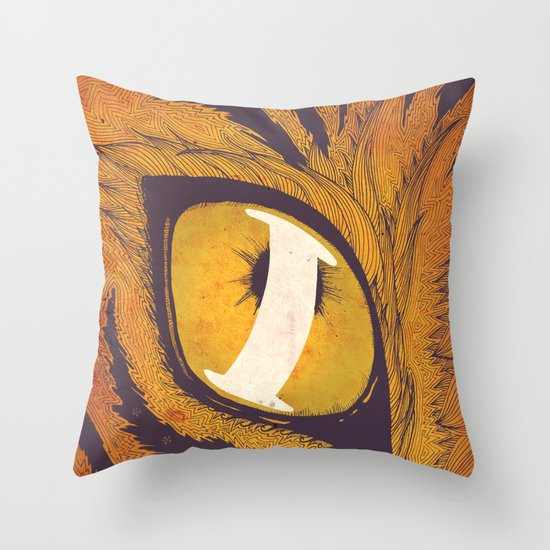 """I"" of the Tiger Throw Pillow"