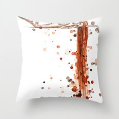 Splattered Throw Pillow