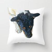 Swedish farm dog Throw Pillow