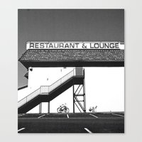 Canvas Print featuring Basic restaurant by Vorona Photography