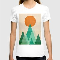 mountains T-shirts featuring No mountains high enough by Picomodi