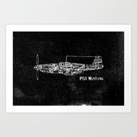 North American P51 Musta… Art Print