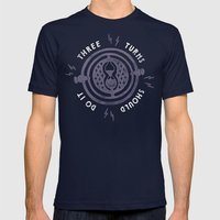 Three Turns Mens Fitted Tee Navy SMALL