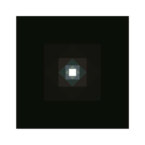 #361 Graced with light part III (square) – Geometry Daily Art Print