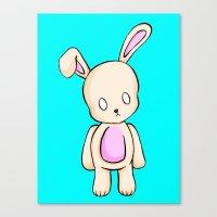 A Tiny Bunny Canvas Print