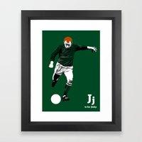 J is for Jinky Framed Art Print