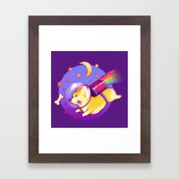 See You Space Corgi Framed Art Print