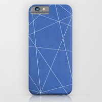 iPhone & iPod Case featuring Geometric Blue by Lindsay Erin Pasichnyk