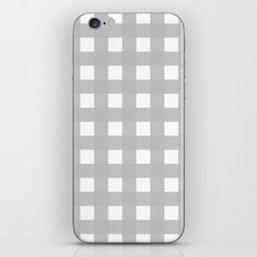 Gingham (Silver/White) iPhone & iPod Skin