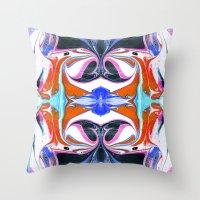 Liquid Maze 1 Throw Pillow