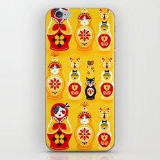 Russian Nesting Dolls – Yellow & Red iPhone & iPod Skin