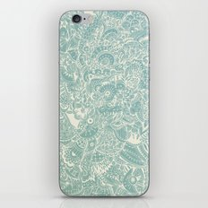 Detailed rectangle, light blue  iPhone & iPod Skin