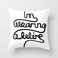 Wearing A Wire Throw Pillow