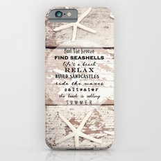 starfish on wood iPhone 6 Slim Case