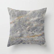 Grey Marble Throw Pillow