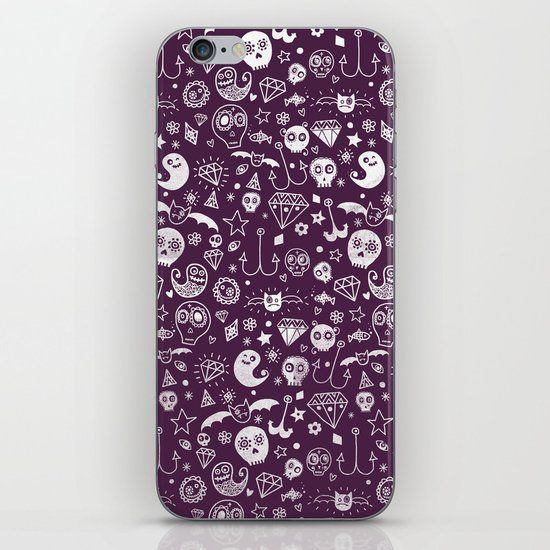 Day of the dead - Purple iPhone & iPod Skin