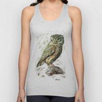 Olive Owl Unisex Tank Top