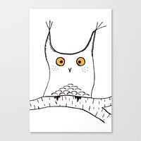 Squarish Owl Canvas Print