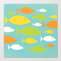 School Of Fish Variation… Canvas Print