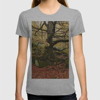 Autumnal Woodland. Padle… Womens Fitted Tee Athletic Grey SMALL