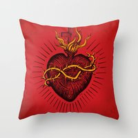 Bleeding Heart Throw Pillow