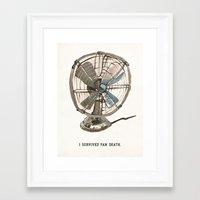 I survived fan death Framed Art Print