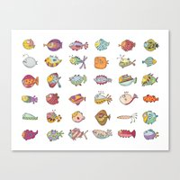 Lotta Fish Canvas Print
