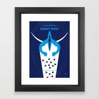 No551 My Galaxy Quest minimal movie poster Framed Art Print