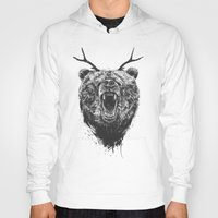 Angry bear with antlers Hoody