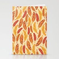Red Feathers Stationery Cards