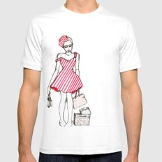 Frazzled Shopper Mens Fitted Tee White SMALL