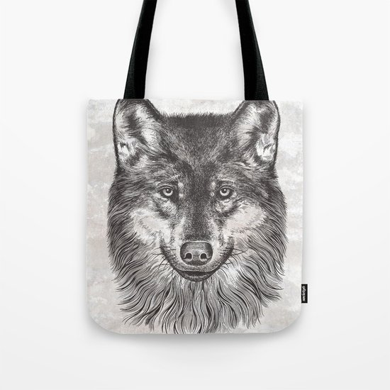Canis Lupus (Gray Wolf) Tote Bag