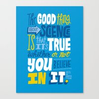 The Good Thing About Sci… Canvas Print