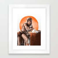 Desert Speeder Framed Art Print