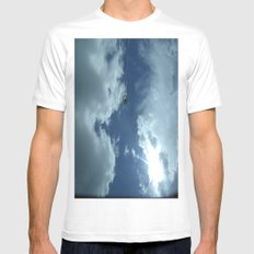 Sky Mens Fitted Tee White SMALL