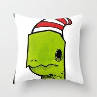 ben the turtle Throw Pillow