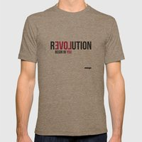 Revolution Mens Fitted Tee Tri-Coffee SMALL