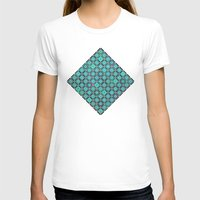 bermuda squares Womens Fitted Tee White SMALL