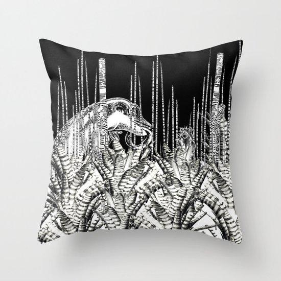 Camouflage II in Uzu Jungle Throw Pillow